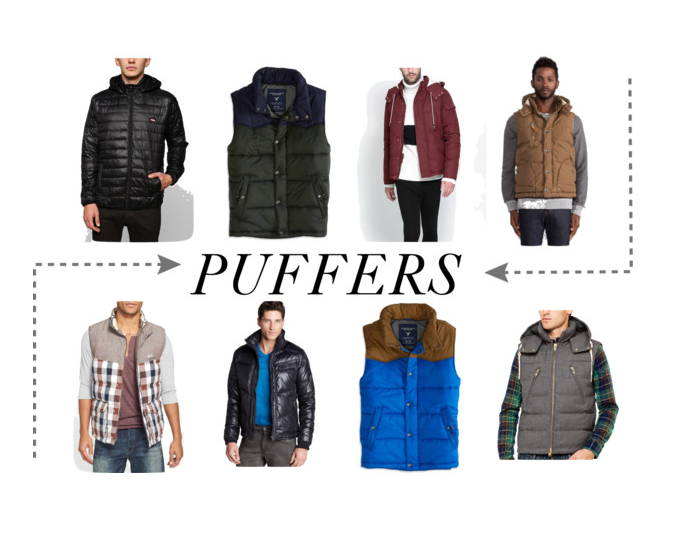Mens Puffer Vests and Jackets