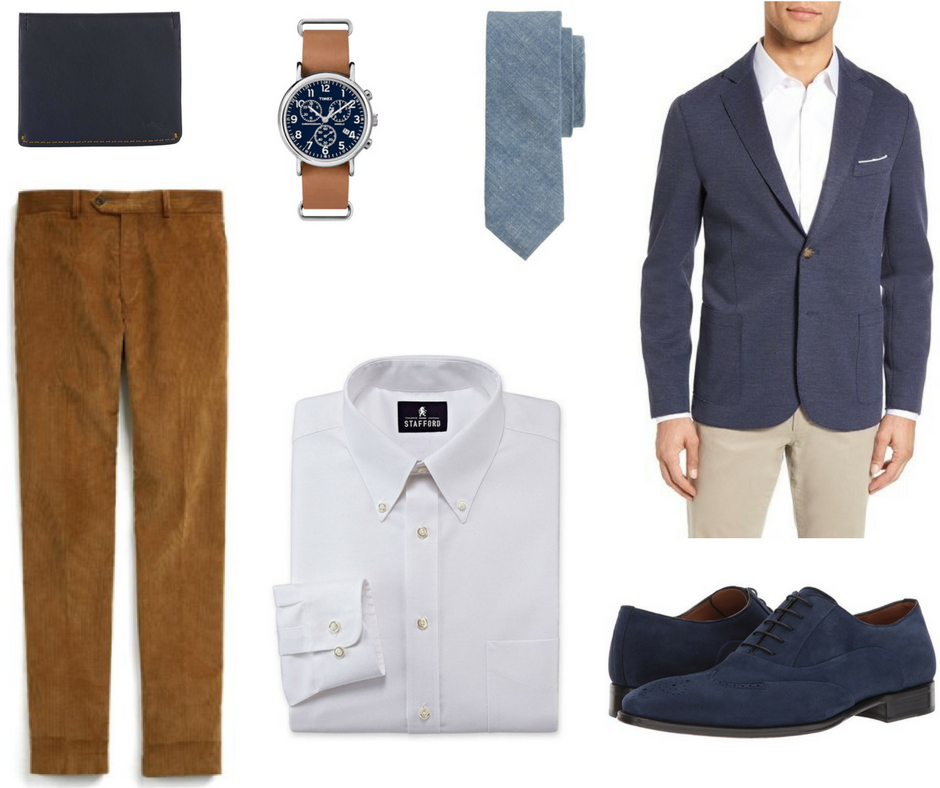how to wear corduroy at the office