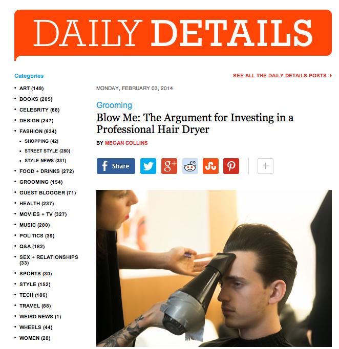 style girlfriend details, grooming, blow dryer, hair dryer, men's grooming
