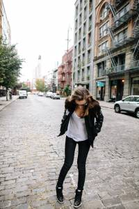 style girlfriend, megan collins, nike destroyer jacket, borrowed from the boys
