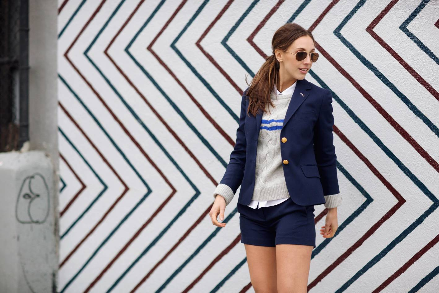 style girlfriend, megan collins, gant rugger, girls in gant rugger