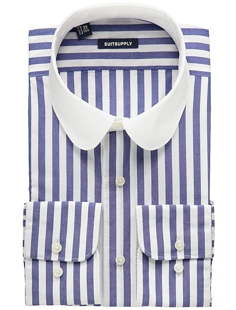 club collar shirt, suit supply shirt, club collar style