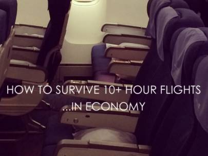 Travel Tips: How to Survive Long Flights in Economy
