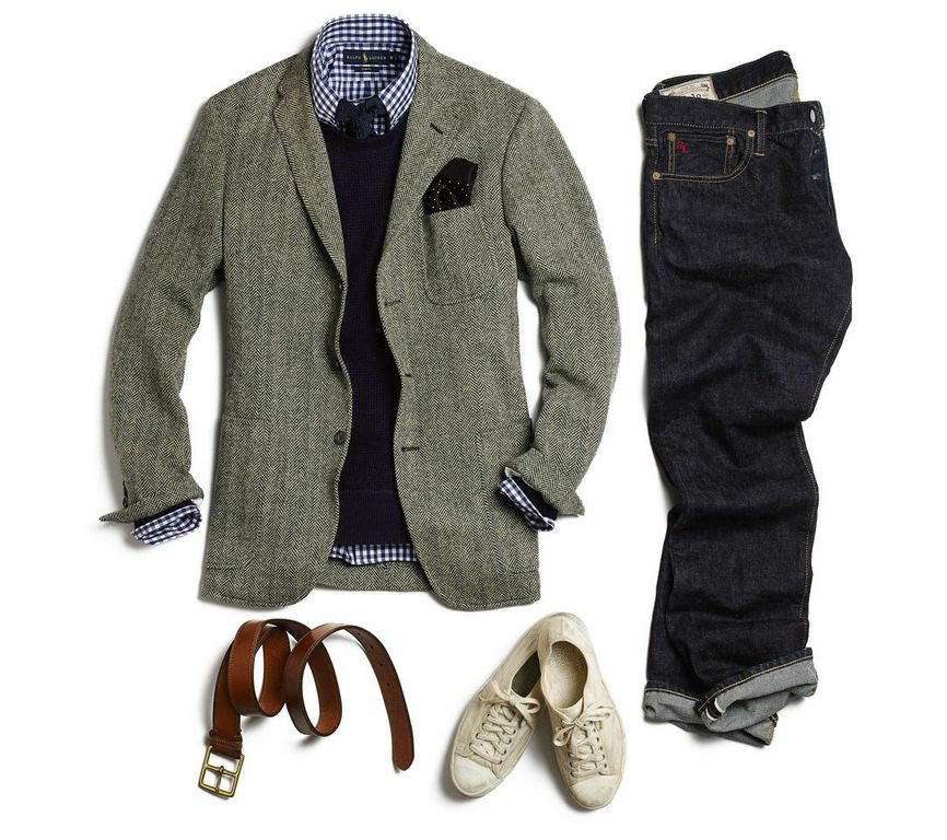 sport coat with jeans