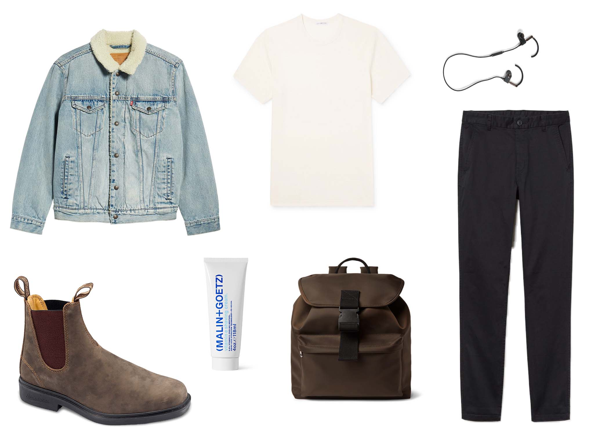 men's outfit with chelsea boots