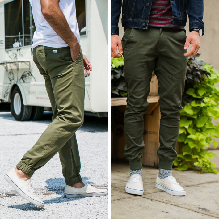 how to wear army green joggers