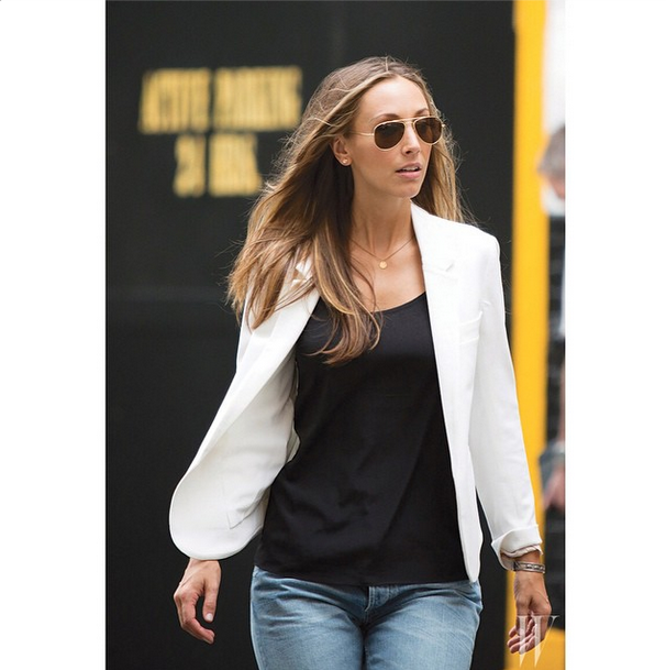 style girlfriend, megan collins, blazer style, sport coat style