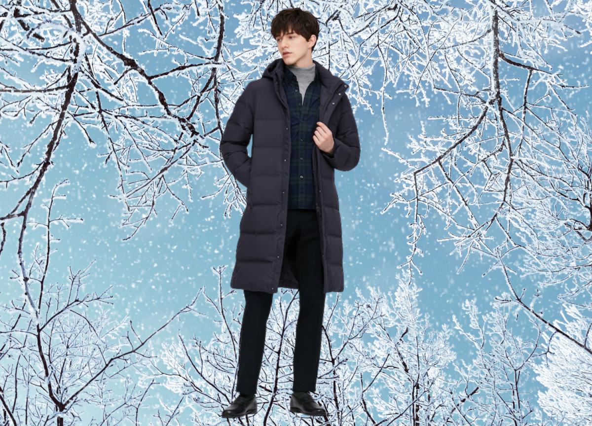 Uniqlo seamless down long coat