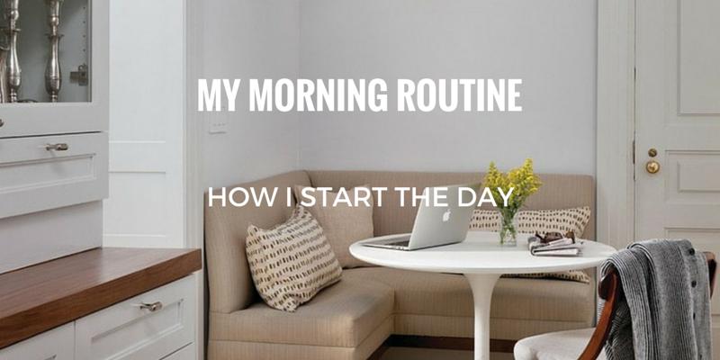 morning routine, morning ritual,