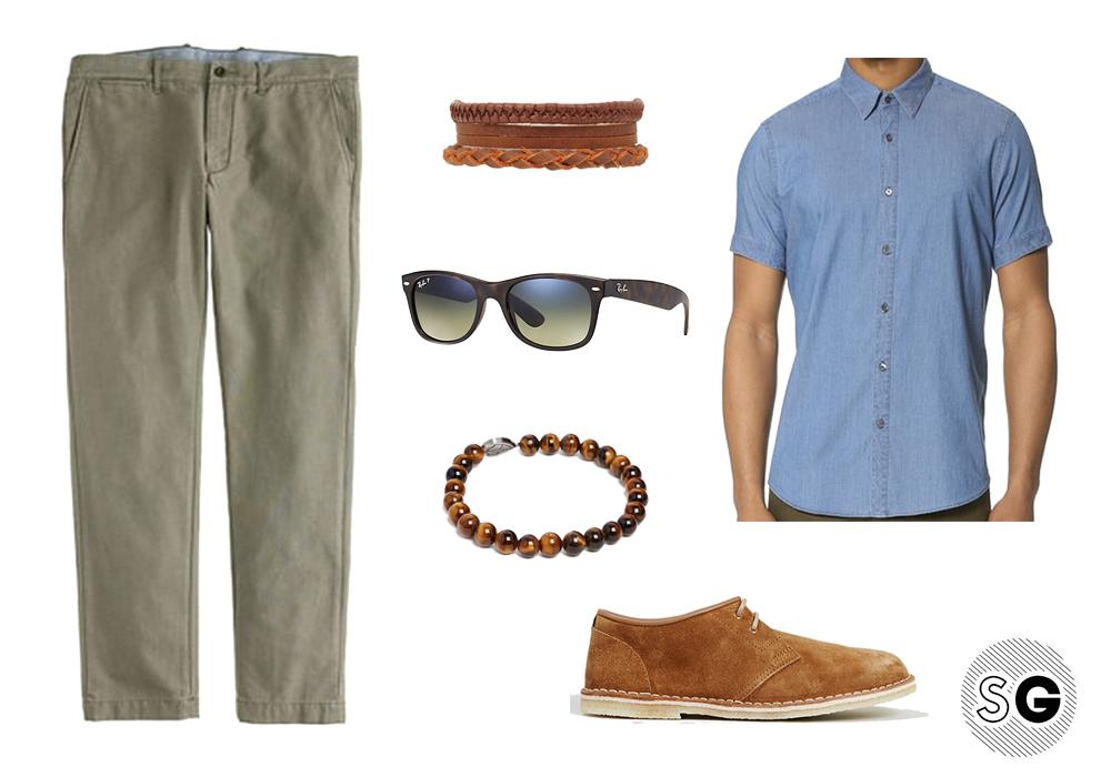 men's bracelet, casual wardrobe, summer outfit, leather bracelet, wooden bracelet