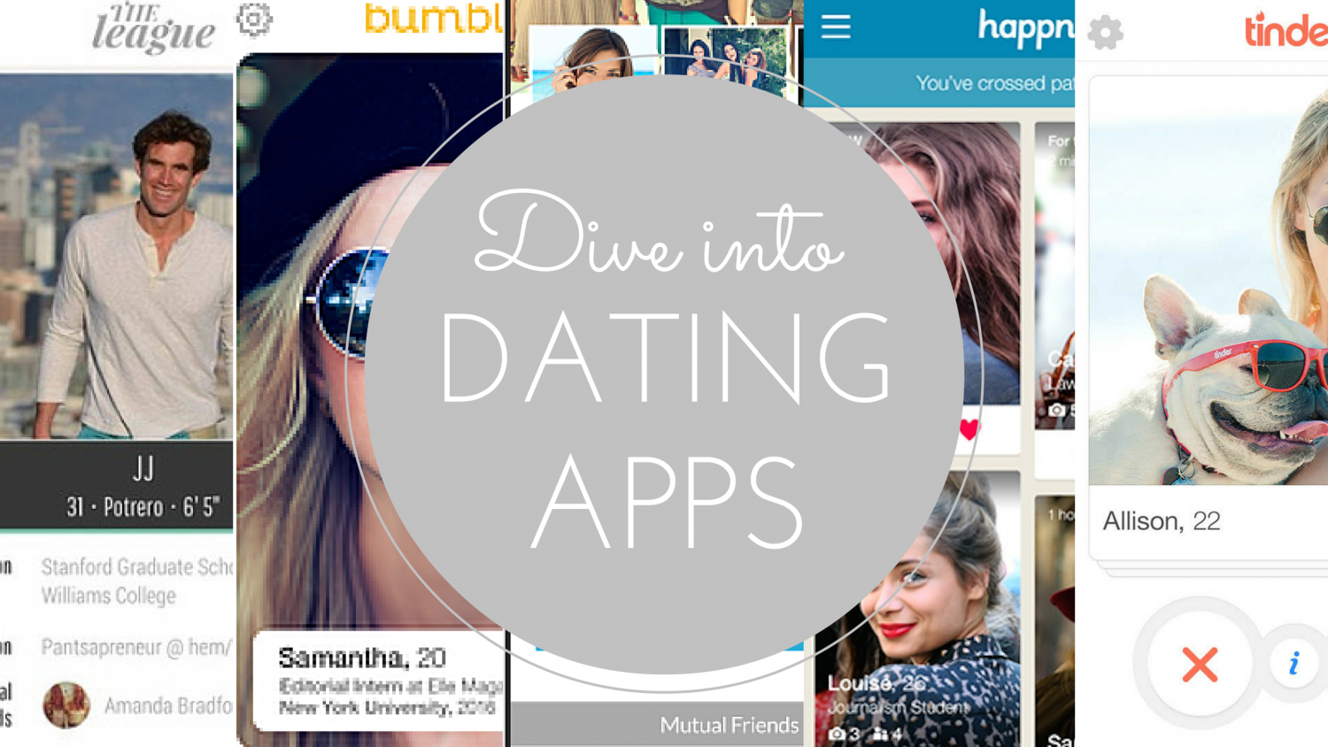 tinder, hinge, happn, bumble, the league, dating apps, dating, dating app dive