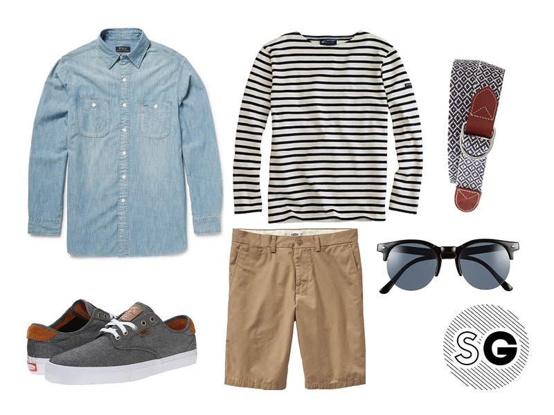 ways to wear breton stripes