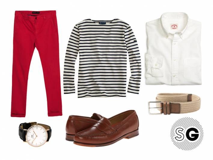 how to wear breton stripes