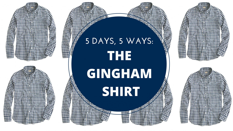 men's style, gingham shirt, summer wardrobe, j.crew, polo