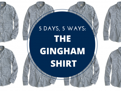 5 Days, 5 Ways: The Gingham Shirt