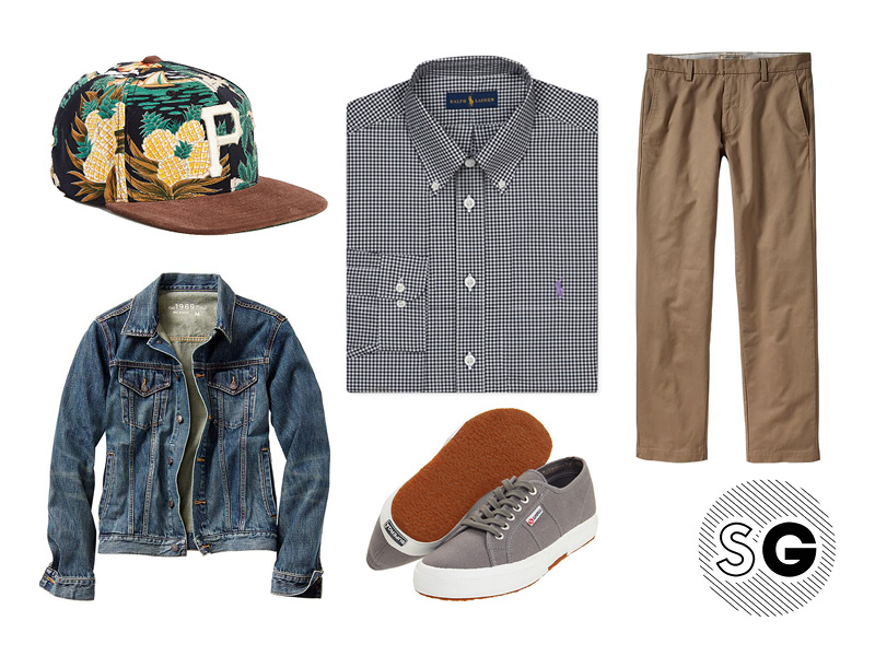 men's style, gingham shirt, summer wardrobe, j.crew, polo