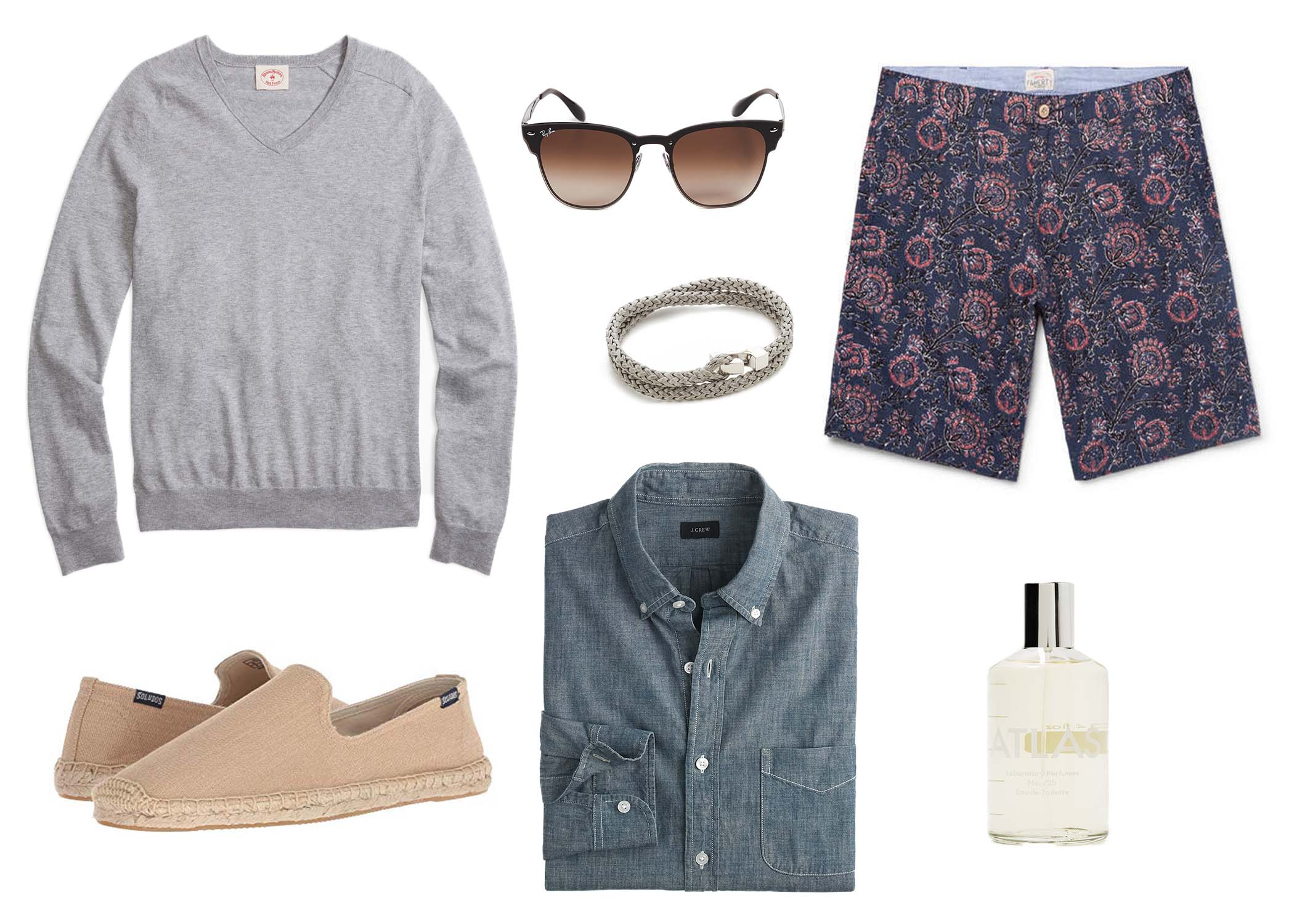how to wear a chambray shirt with shorts