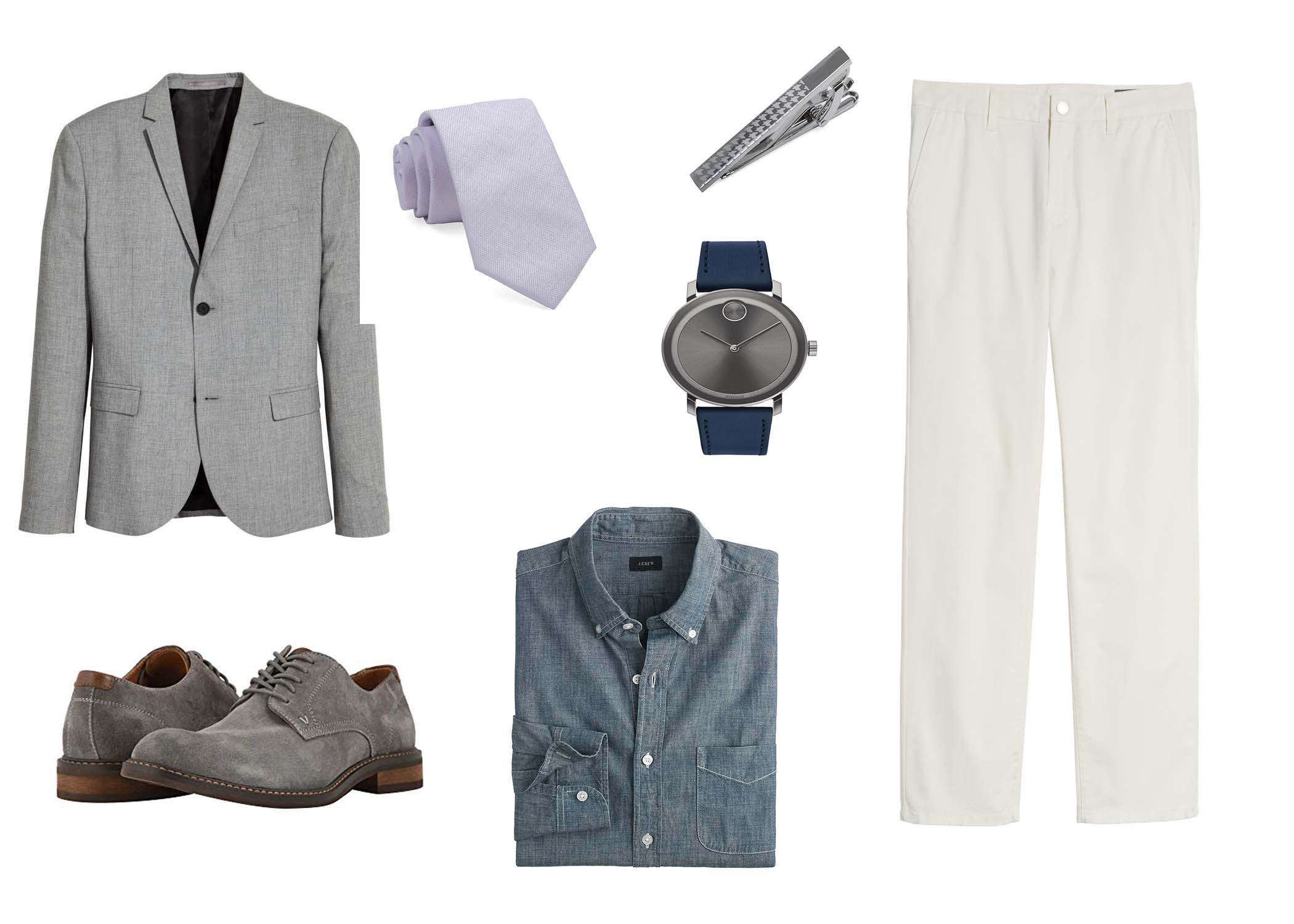 how to wear a chambray shirt at work