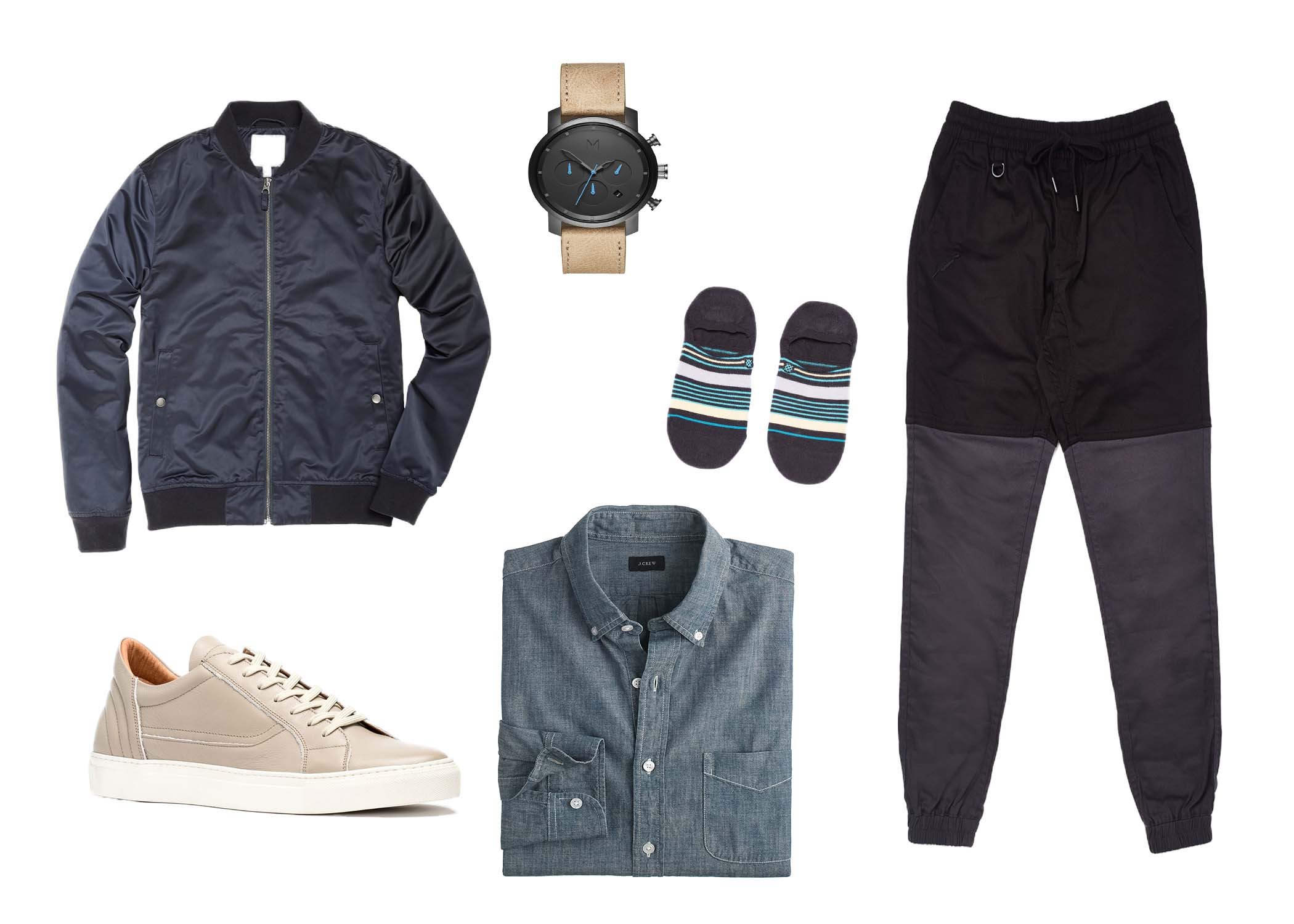 chambray shirt outfit for guys