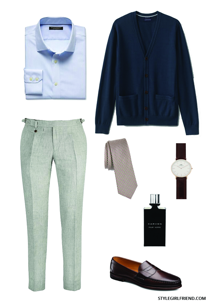 men's cardigan outfit
