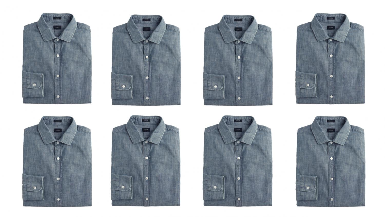 chambray shirt, men's style