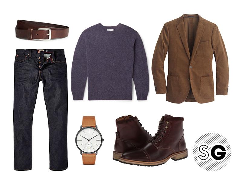 ways to wear a corduroy blazer