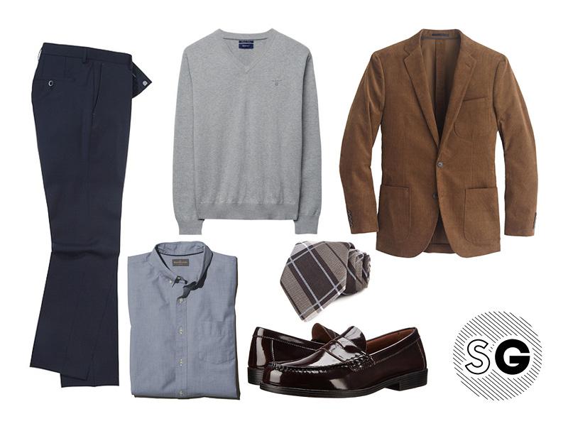 corduroy blazer outfit ideas