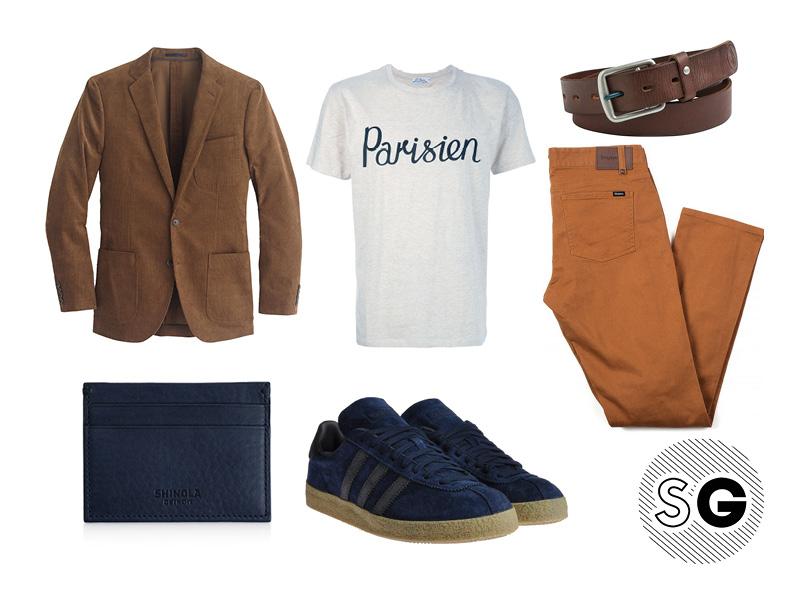 statement pants, parisien, maison kitsune, graphic tee, cult, sneakerhead, blue suede shoes