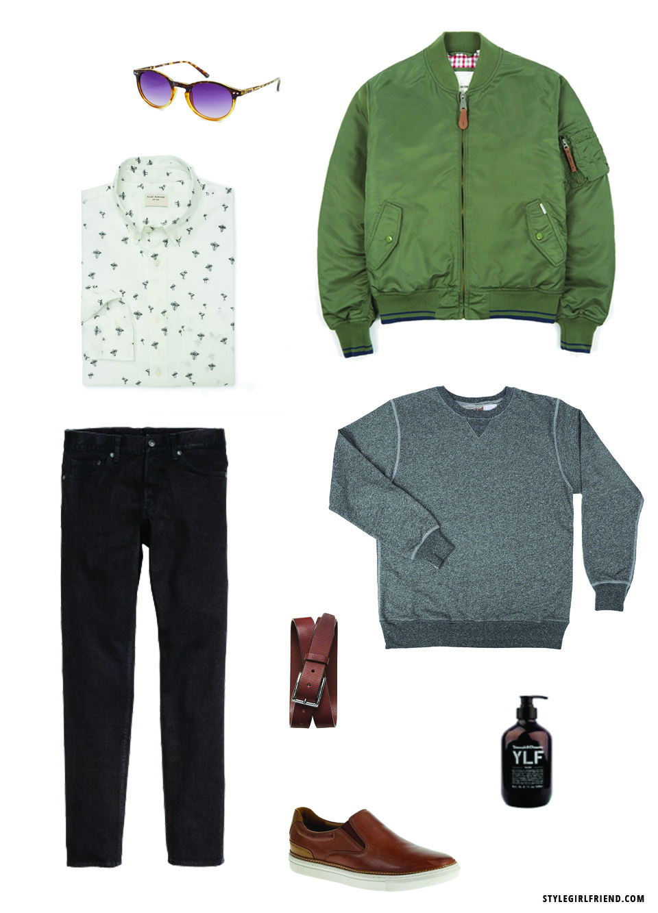 bomber outfits for guys