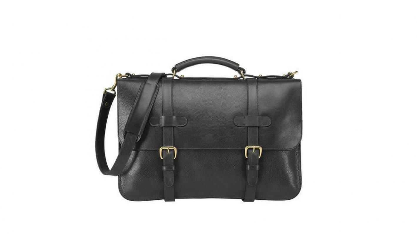 lotuff leather black briefcase