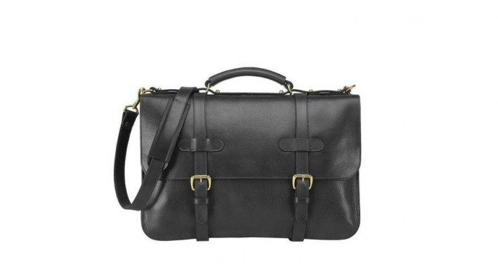 lotuff leather black briefcase
