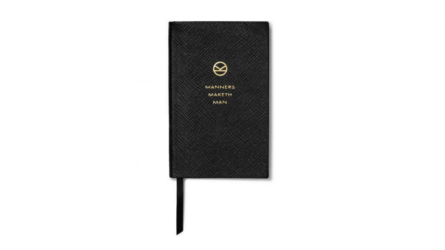 black smythson notebook