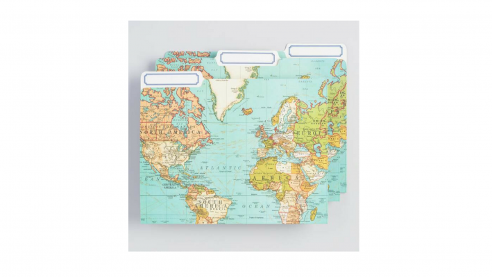 world market map folders