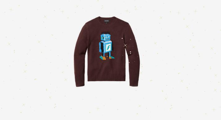 bonobos robot sweater, cyber monday shopping