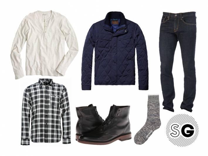 neutral, plaid, black and white, bomber, field jacket, frye, layer, safe, easy, basic