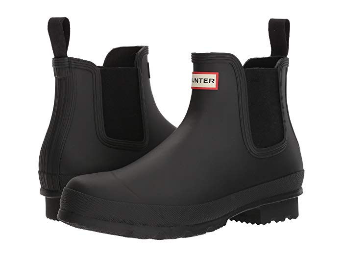 hunter black waterproof chelsea boot