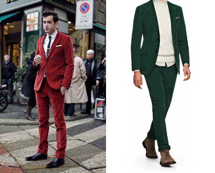 how to wear a corduroy suit