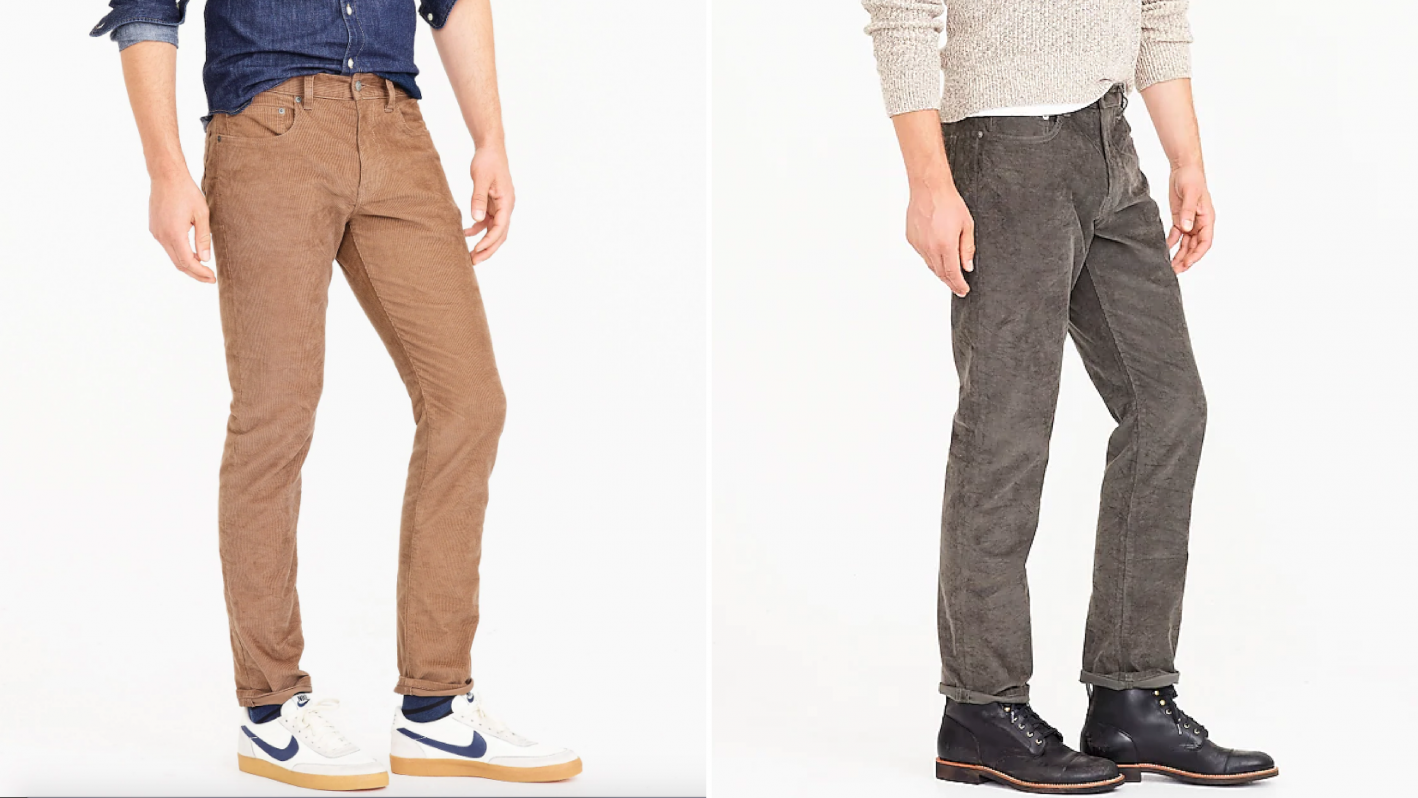 how to wear corduroy pants like jeans