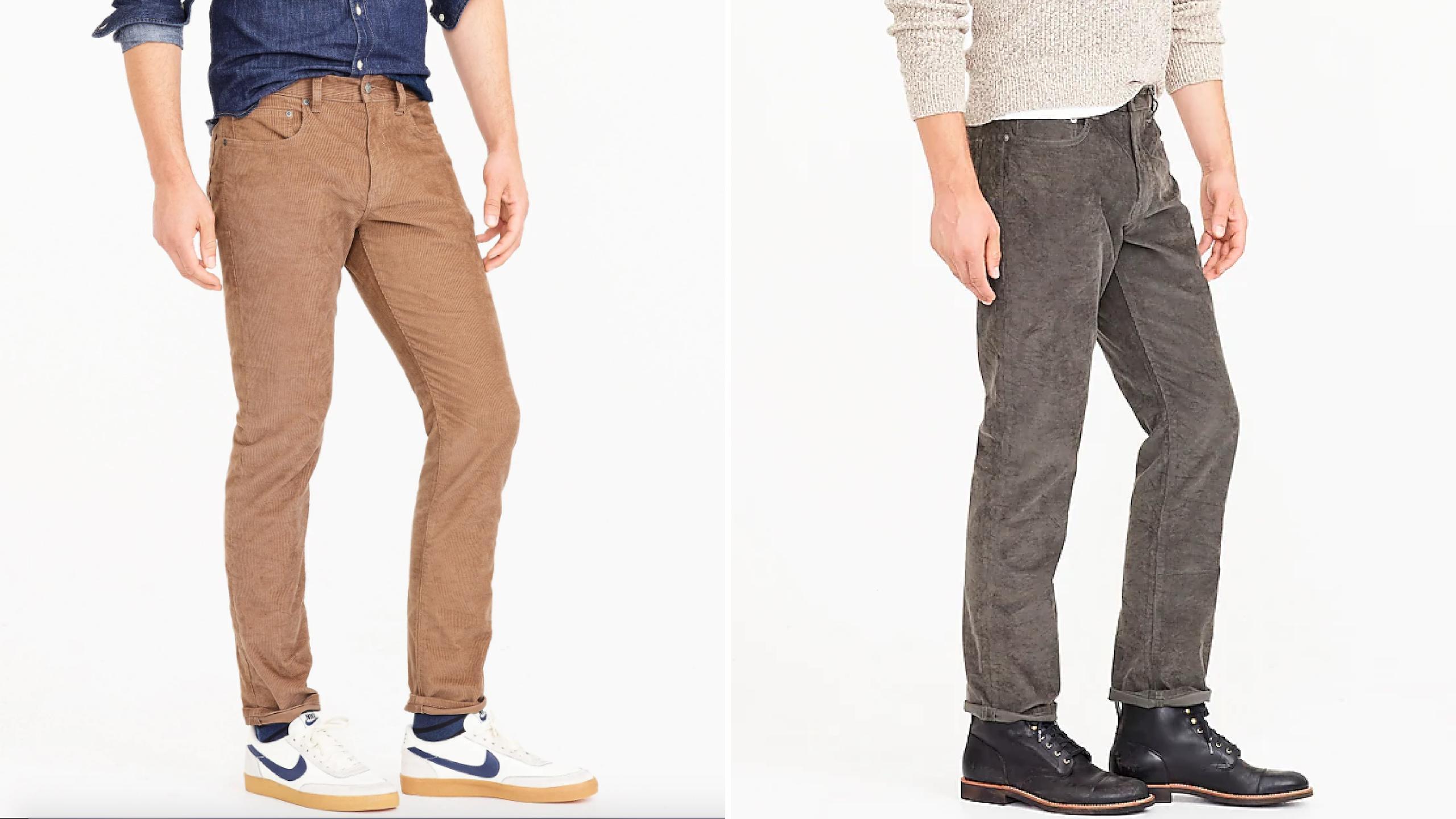 how to wear corduroy pants like jeans