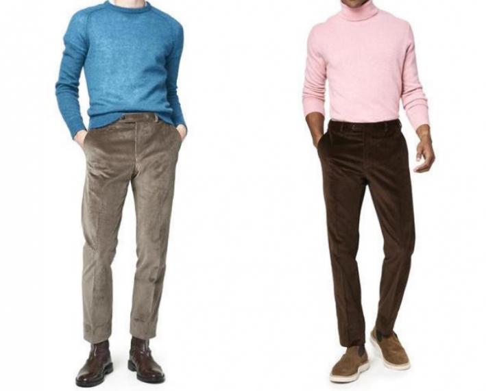 how to wear men's corduroy dress pants