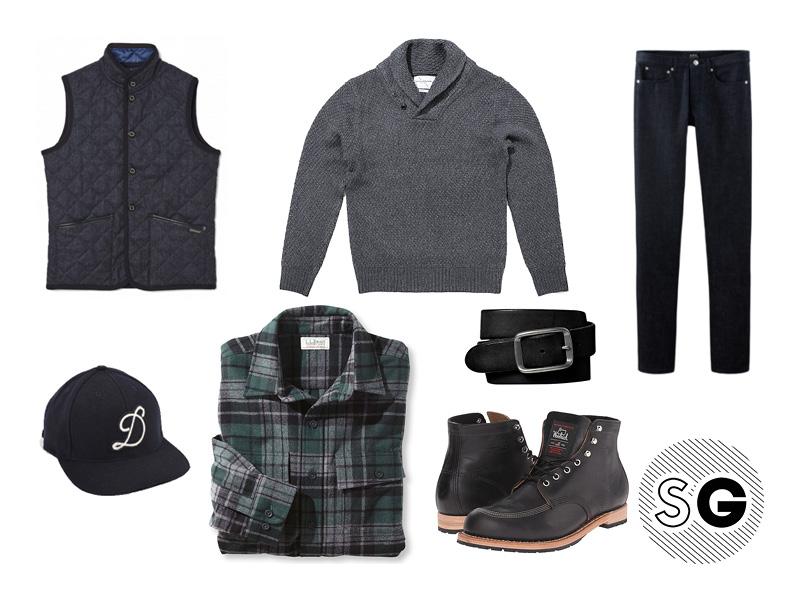 preppy, sweater, grey, tonal, monochrome, blue