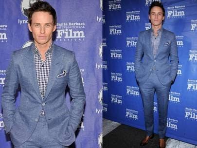 Steal His Look: Eddie Redmayne in a Blue Monochrome Suit