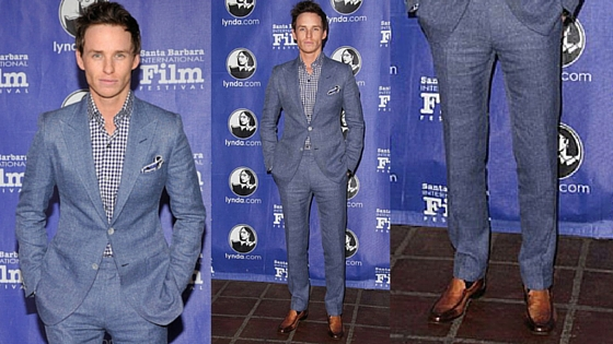 eddie redmayne, blue monochrome, no jeans january