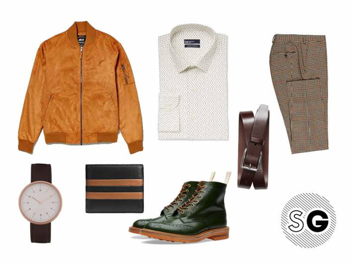 bomber, end clothing, bar 3, trickers, menswear, pattern play, nojeansjanuary