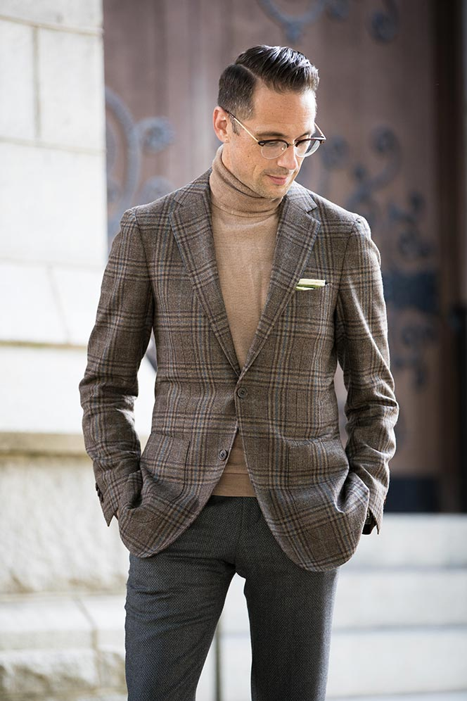 sportcoat with a turtleneck