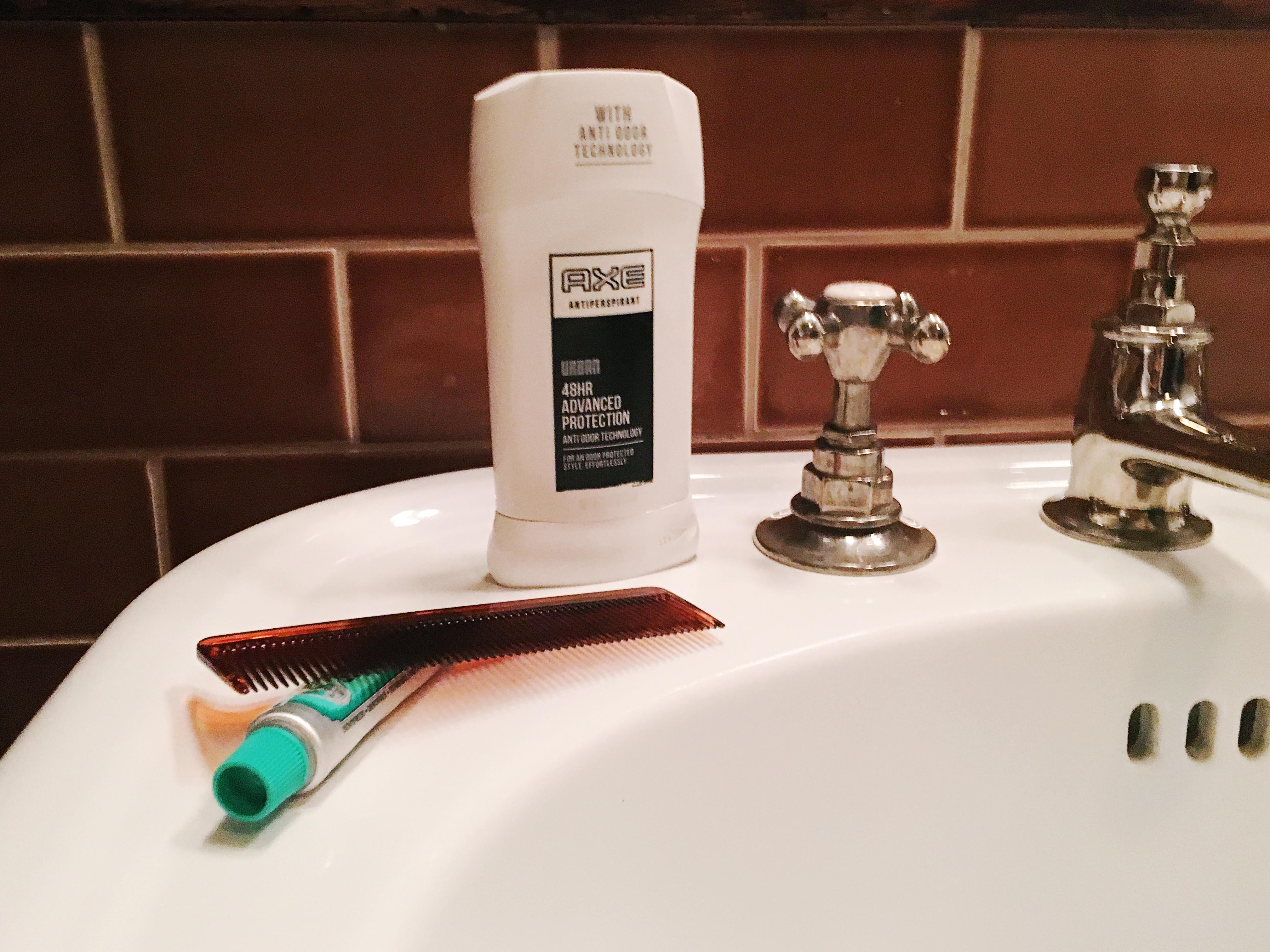 morning grooming routine, men's grooming, target, axe, dove