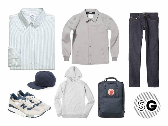 stripes, jeans, gray, monochrome, fjallraven, new balance