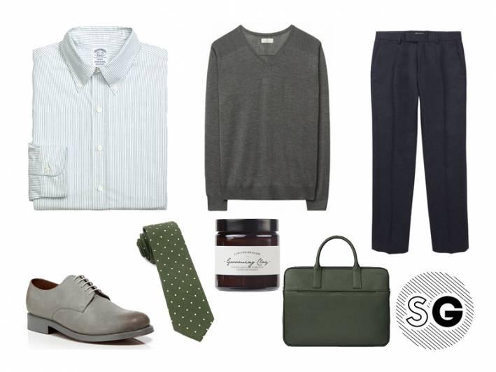green, grenson, jack spade, office style, work, trousers