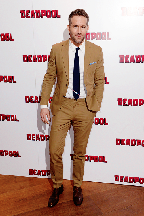 Ryan Reynolds at a Deadpool showing in London