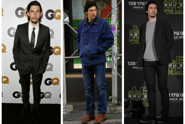 sg madness, march madness, men's style madness, Adam Driver